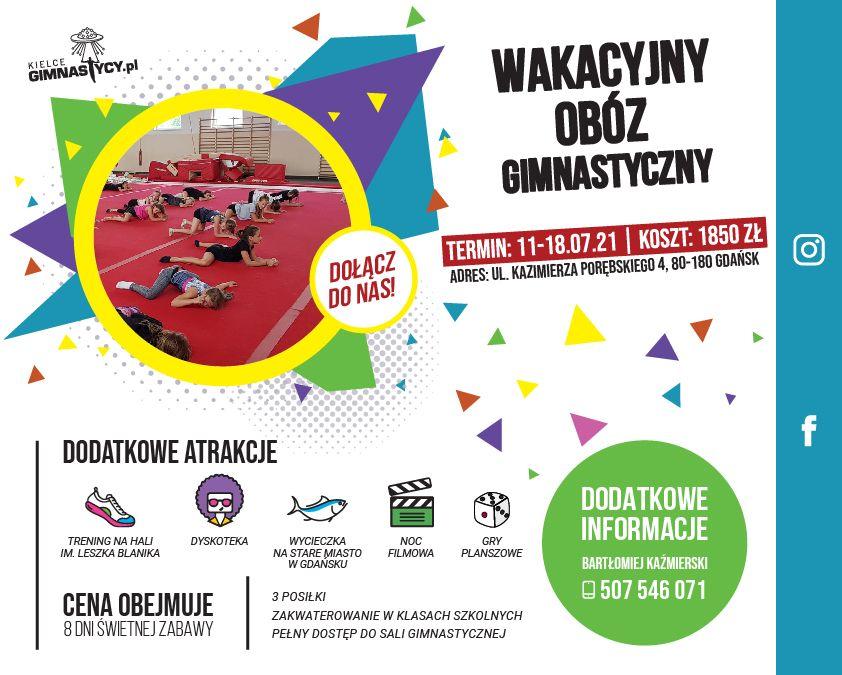 Wakacyjny Obóz Gimnastyczny dla dzieci 2021